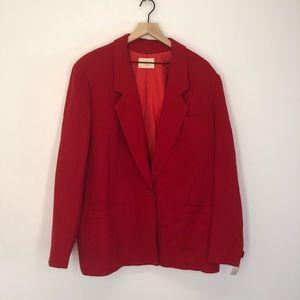 Pendleton Red Wool Blazer Size 16